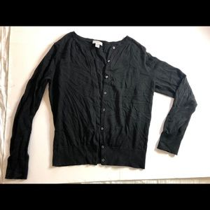 Loft 100% cotton black cardigan